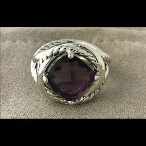 David Yurman Sterling Infinity Amethyst Ring